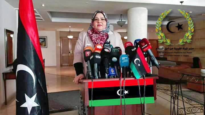 «منبر المرأة الليبية من أجل السلام» يحاور المرشحة لرئاسة الحكومة حنان عبدالقادر الفخاخري